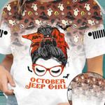 October Jeep Girl Halloween Unisex AOP T-Shirt 3D #KV