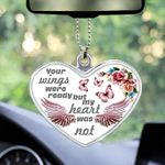 Your wings was ready but my heart was not - Butterfly car hanging ornament