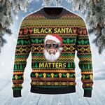 Everyone's Christmas, Black Santa Matters 3D Sweater #Lk