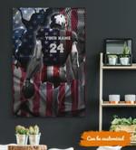 Football Player American Flag custom name & number Canvas Prints #KV