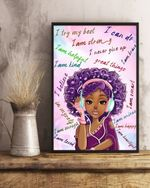 Black Girl Music I try my best, I am Strong Canvas Prints #KV