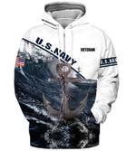 Us Navy Veteran Anchor hoodie 3d #KV