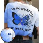 Jeep In November We Wear Blue Unisex AOP T-Shirt