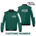 Personalized Number 456 Squid Game All Over Print Bomber Jacket