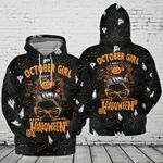 October Girl Trick or Treat Halloween Hoodie 3D #131021Lk