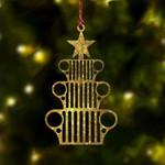 Jeep Golden Christmas Tree Ornament