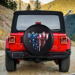 Jeep heart melting American flag spare tire cover