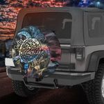 Colorful turtle jeep salty lil beach spare tire cover