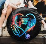 Amazing Jeep nurse heart spare tire cover