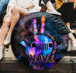 It's all about the wave tie dye Jeep hand spare tire cover