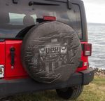 Cool Jeep scratch iron spare tire cover