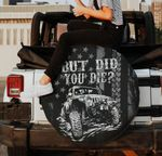 But did you die Jeep flag black gray spare tire cover