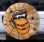 Halloween Jeep lip orange spare tire cover