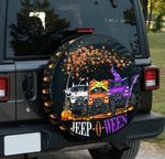 Jeep-O-Ween Happy Halloween Witch Jeep spare tire cover