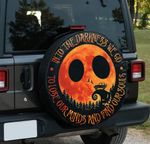 Into the darkness we go to lose my minds and find my souls Jeep Halloween spare tire cover