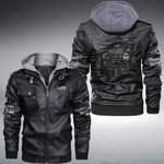 Jeep scratch custom name Leather Jacket Hooded #KV