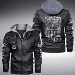 Boobs And Jeeps Make Me Happy custom name Leather Jacket Hooded #KV