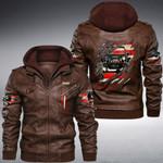 Jeeps American Flag custom name Leather Jacket Hooded #KV