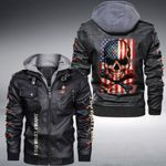 I Do What I Want Skull custom name Leather Jacket Hooded #KV