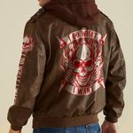 Skull Fire I Do What I Want custom name Leather Jacket Hooded #KV