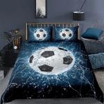 Soccer thunder & water, Football 3D custom Name Duvet Cover Bedding Set #V
