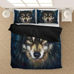 Native Wolf Winter Personalized Name Duvet Cover Bedding Set #H