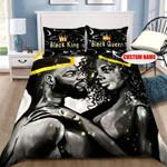 Personalization Black King and Queen Duvet Cover Bedding Set #V