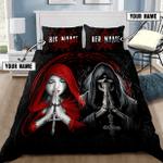 Skull couple cross Personalized Name Duvet Cover Bedding Set #KV