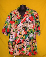 Sexy Girl with Flower Vintage Hawaiian Shirts #KV