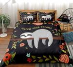 Sloth Follow your dream Duvet Cover Bedding Set #V