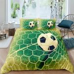 Soccer Goal, Football pitch Personalized Name Duvet Cover Bedding Set #V