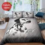 Puppy Dog Personalized Name Duvet Cover Bedding Set #V