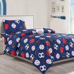 Sport Pattern Soccer, American Football, Basketball Duvet Cover Bedding Set
