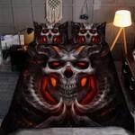 Satanic Skull Death Tattoo Duvet Cover Bedding Set #V