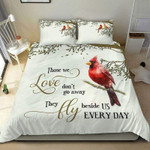 Personalized Memorial With Cardinal Duvet Cover Bedding Set #0905H