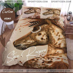 Personalized name Horse Duvet Cover Bedding Set #1305