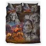 Native Face Confided Personalized Name Duvet Cover Bedding Set #H
