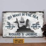 Sailor Mermaid So many in the sea yet I found you custom name Canvas Prints #KV