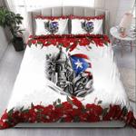 Puerto Rico Cute Caribbean Frog With Maga Flower Duvet Cover Bedding Set #KV