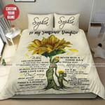 Sunflower gift for your daughter custom name Duvet Cover Bedding Set #0905H