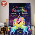 Unicorn couple I love you Custom Name Canvas Prints #255L
