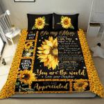 Sunflower gift for mom Duvet Cover Bedding Set #0905v