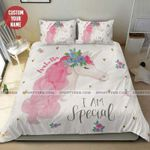 Unicorn I am Special Personalized Name Duvet Cover Bedding Set #1205H