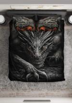 Tattoo Black Dragon Duvet Cover Bedding Set #V