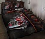 Trucker so cool Red Truck Carbon Quilt Bed Set #V