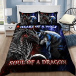 Tattoo Heart of a wolf, soul of a dragon Duvet Cover Bedding Set #V
