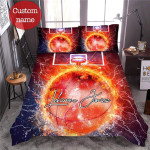 Thunder Basketball Duvet Cover Bedding Set with Your Name