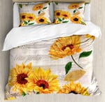 Sunflower Duvet Cover Bedding Set #V