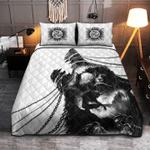 Viking Wolf tattoo of Odin Quilt Bed Set #V