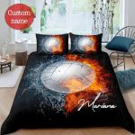 Volleyball Duvet Cover Bedding Set 3D Printing Ball with Your Name